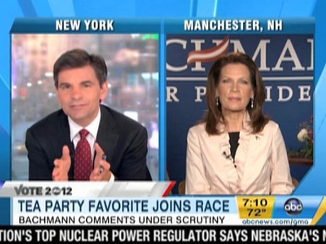 George Stephanopoulos, Michele Bachmann