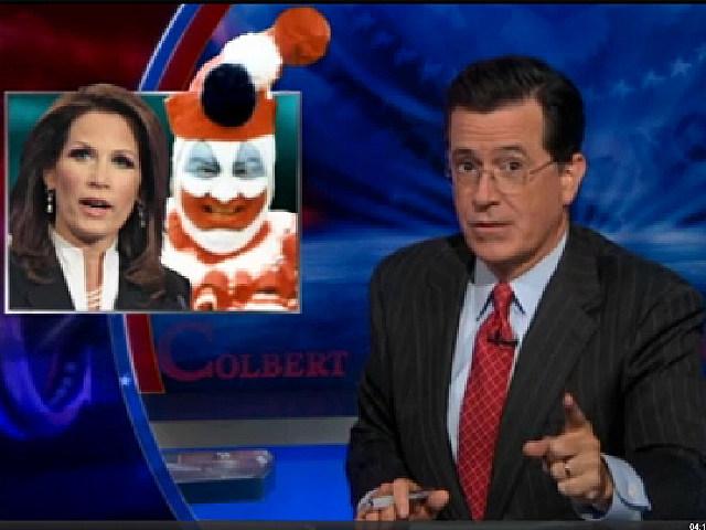 Stephen Colbert, Michele Bachmann, John Wayne Gacy