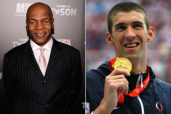 Mike Tyson, Michael Phelps
