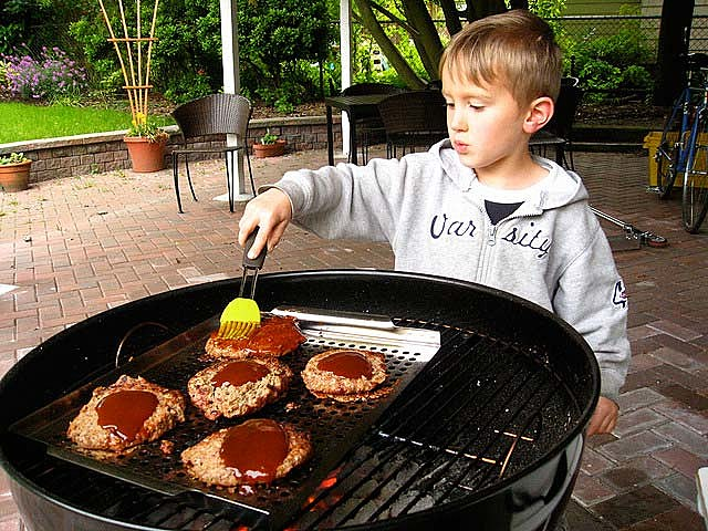 child grilling