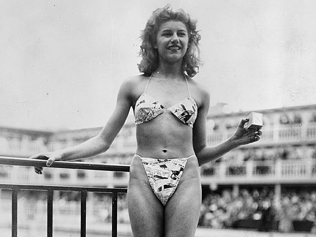 Unable to find a traditional model for his revealing swimsuit, Réard employed 19-year-old nude dancer Micheline Bernardini to model his bikini at at a beauty contest in Paris.