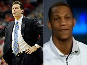 Steve Alford and Jarion Henry