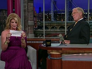 Kirstie Alley, David Letterman