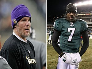 Brett Favre and Michael Vick