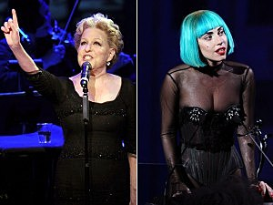 Bette Midler and Lady Gaga