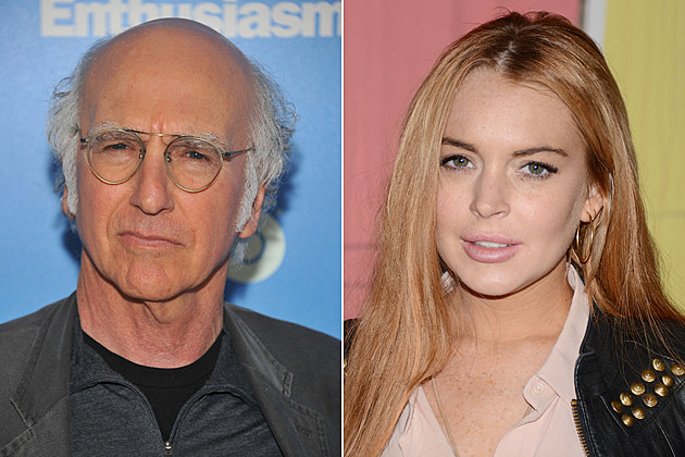 Larry David, Lindsay Lohan