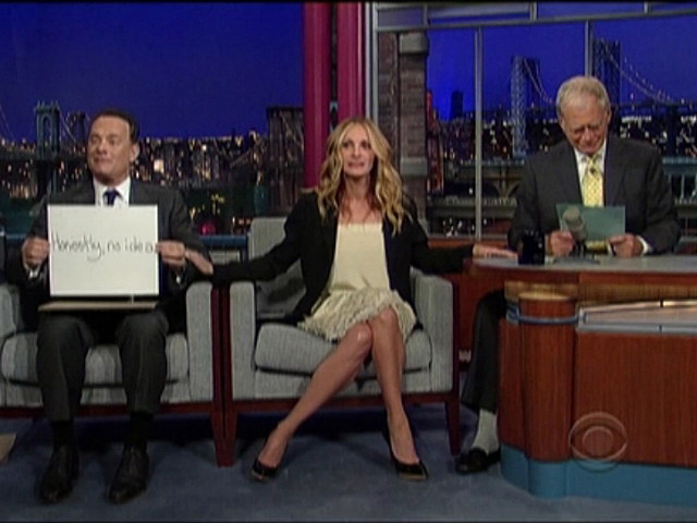 Tom Hanks, Julia Roberts, David Letterman