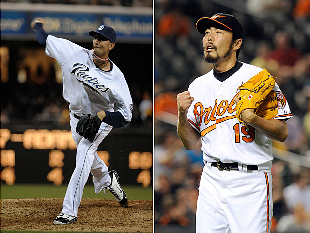 Mike Adams and Koji Uehara