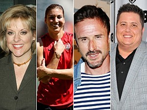 Nancy Grace, Hope Solo, David Arquette, Chaz Bono