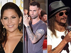 Lady Antebellum, Naroon 5, Kid Rock