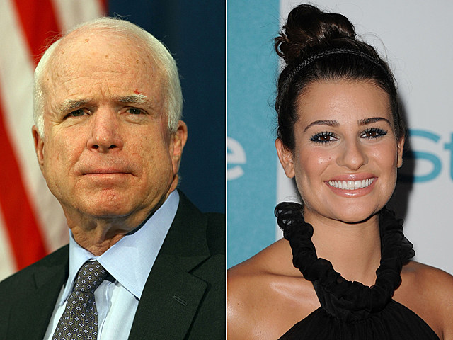 John McCain, Lea Michele