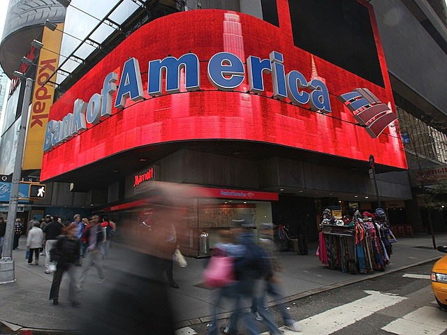 Bank Of America on October 19, 2010 in New York, New York.