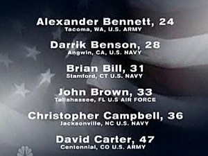 Pentagon names of chinhook crash victims