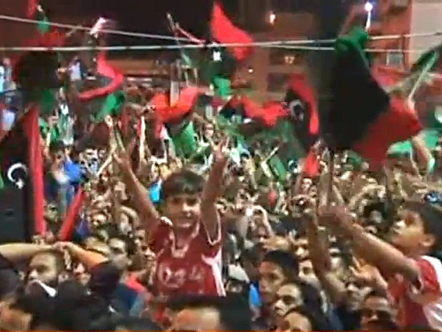 After six months of civil war, Libyan rebels swept into Tripoli and laid claim to most of the city.