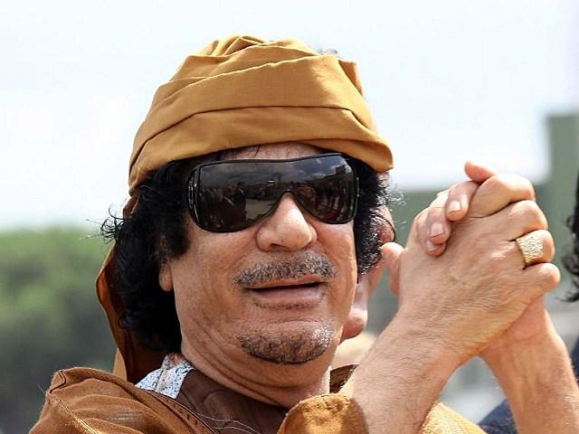 It's Gathafi