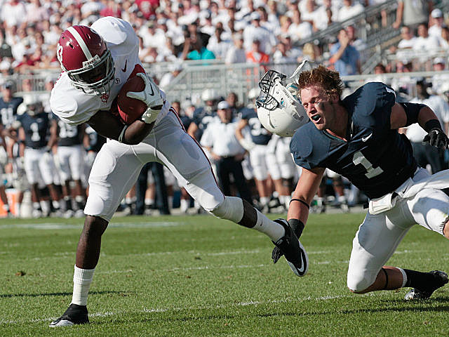 Alabama receiver Kevin Norwood takes in a pass vs. Penn State.