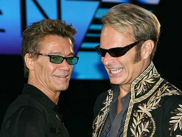 Edward Van Halen and David Lee Roth