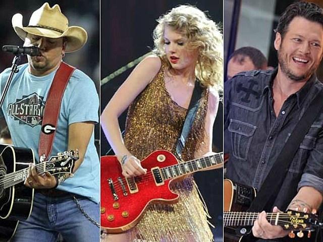 Jason Aldean, Taylor Swift, and Blake Shelton