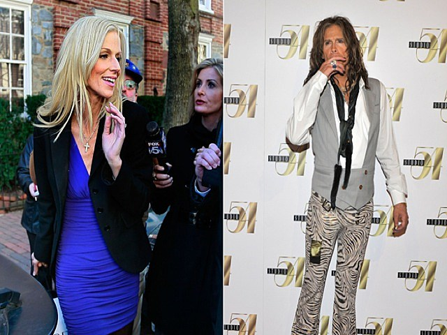 Michaele Salahi and Steven Tyler