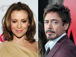 Alyssa Milano, Robert Downey, Jr.