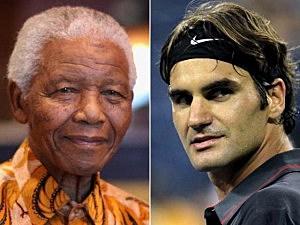 Nelson Mandela, Roger Federer