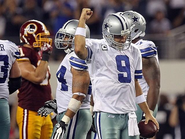 Tony Romo Celebrates
