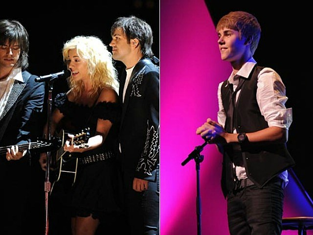 The Band Perry and Justin Bieber