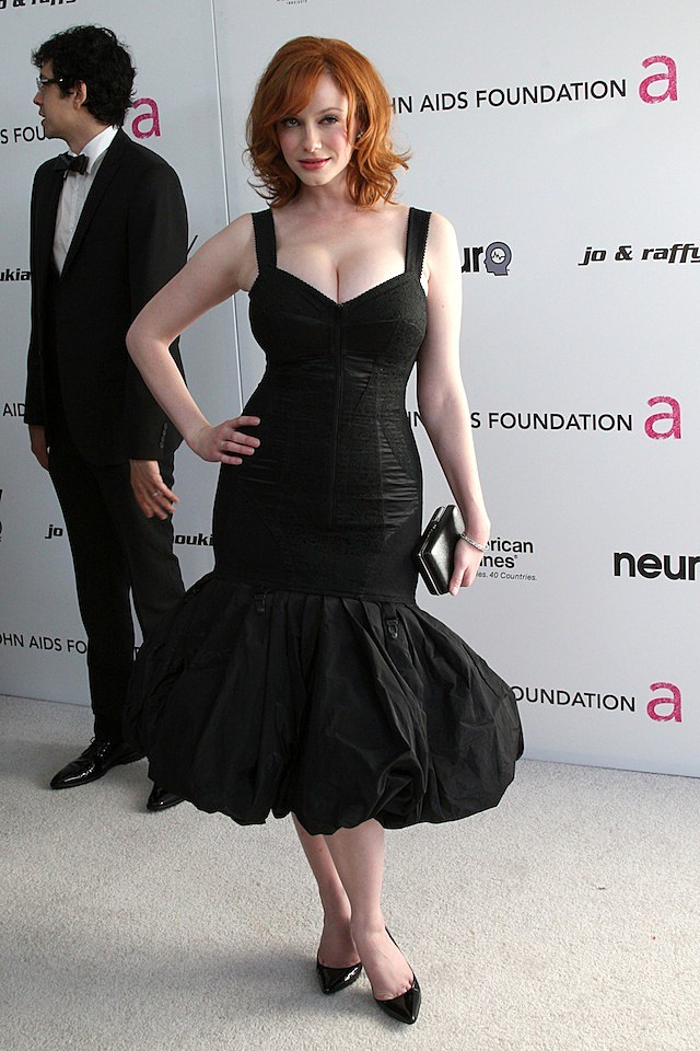 Christina Hendricks Oscar Party