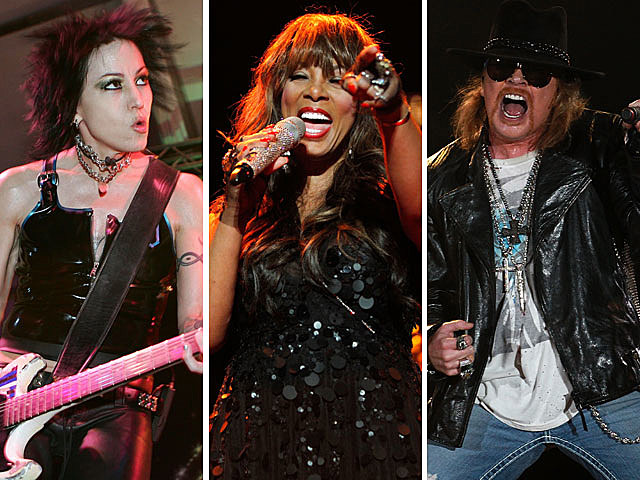 Joan Jett and the Black Hearts, Donna Summer, Guns N' Roses