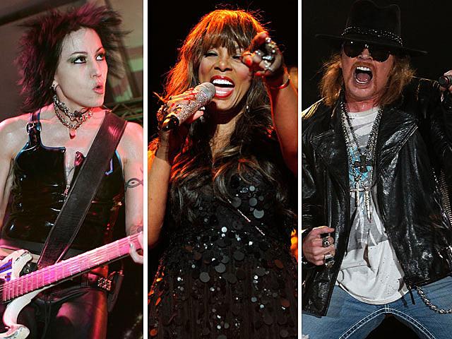 Joan Jett and the Black Hearts, Donna Summer, Guns N' Roses