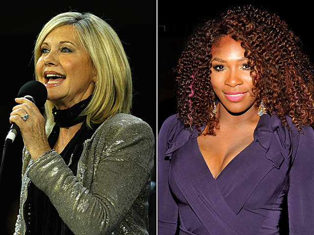 Olivia Newton-John, Serena Williams