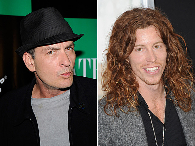 Charlie Sheen, Shaun White