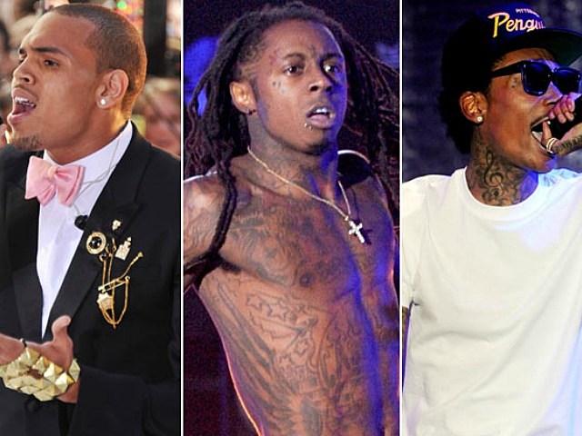 Chris Brown, Lil Wayne, and Wiz Khalifa