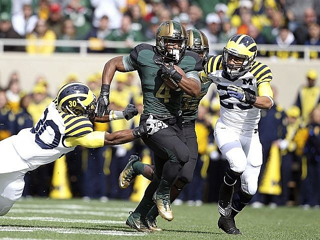 Michigan State handed the Wolverines their first loss of the season.