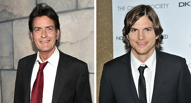 Charlie Sheen Ashton Kutcher
