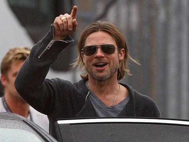 Brad Pitt World War z set