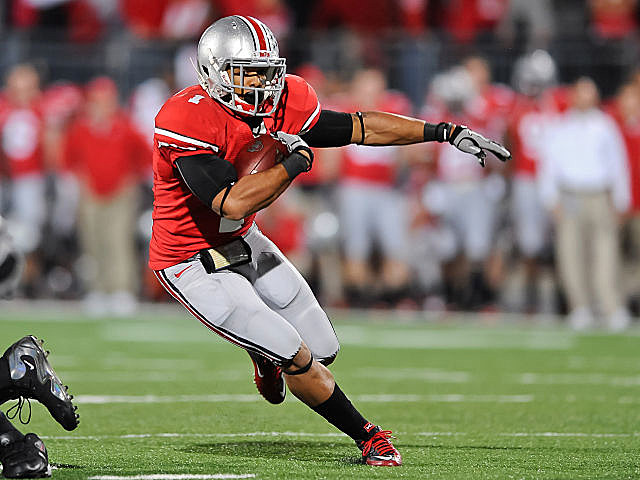 Ohio State running back Dan Herron has been suspended for his sixth game of the year.
