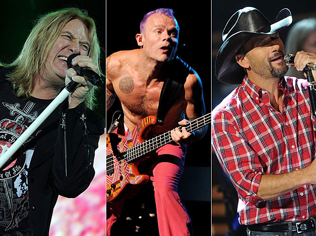 Def Leppard, Red Hot Chili Peppers, Tim McGraw