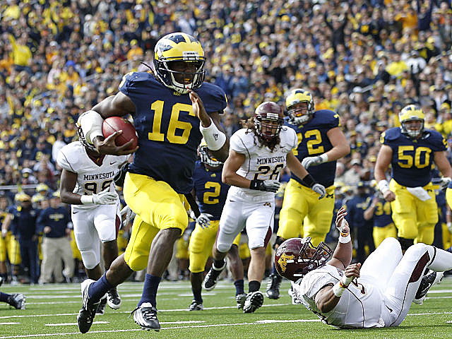 Denard Robinson will take on the nation's top-ranked defense.