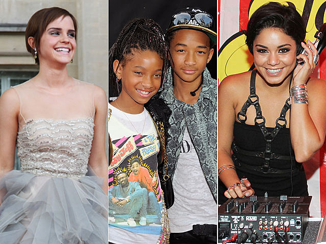 Emma Watson, Jaden Smith, Willow Smith, Vanessa Hudgens