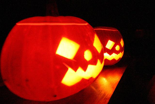 carved pumpkins jack-o-lanterns Halloween