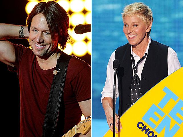 Keith Urban, Ellen DeGeneres