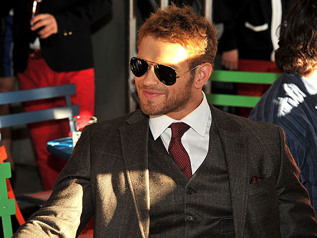 Kellan Lutz at NY Fashion Week