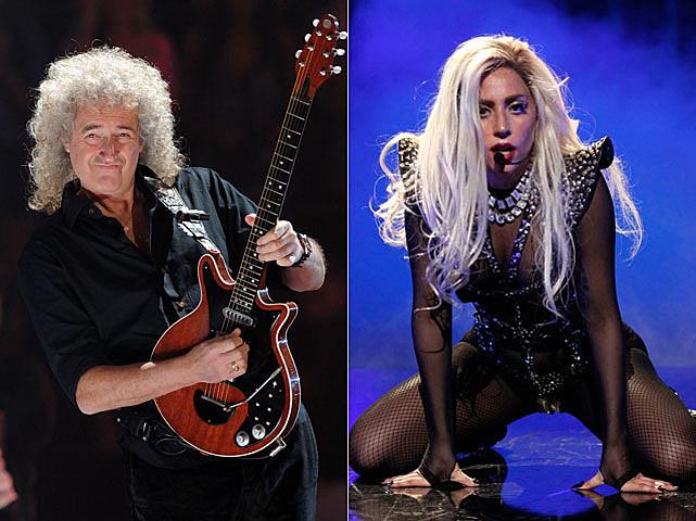 Lady Gaga, Brian May, Queen