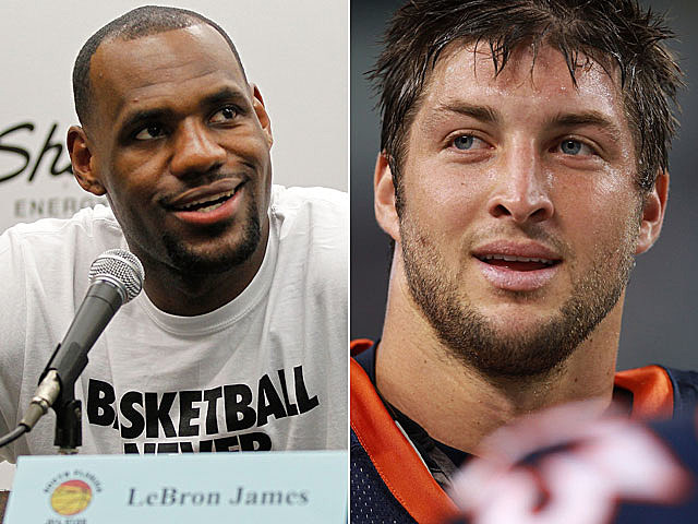Lebron James, Tim Tebow