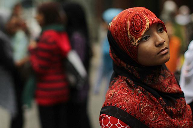 muslim woman dressed in hijab