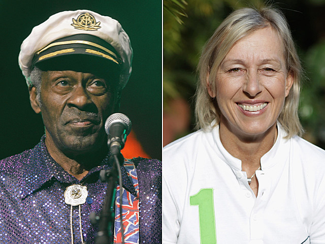 Chuck Berry, Martina Navratilova