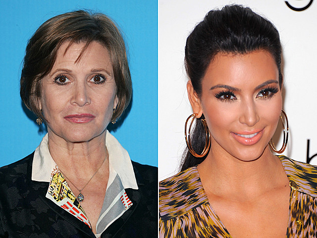 Carrie Fisher, Kim Kardashian