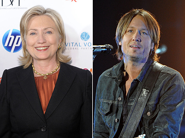 Hillary Rodham Clinton, Keith Urban