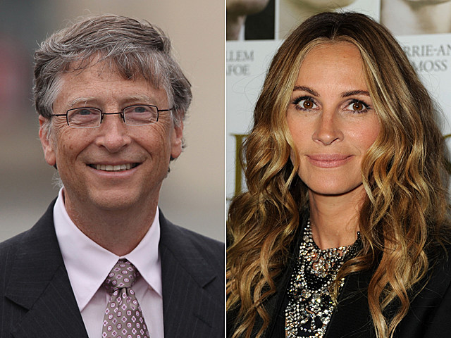 Bill Gates, Julia Roberts